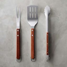 Williams Sonoma Walnut BBQ Tools, Set of 3
