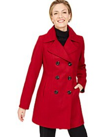 Anne Klein Double-Breasted Peacoat, Created for Ma
