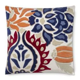 Izlara Floral Applique Pillow Cover, Red