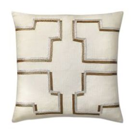 Luca Linen Zardozi Pillow Cover, White