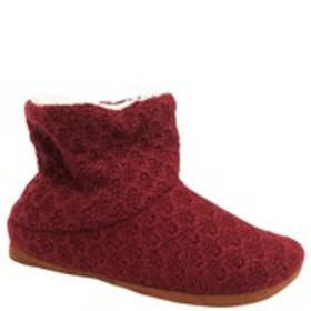 Textured Knit Bootie Slippers
