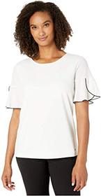 Calvin Klein Short Sleeve Top w/ Piping