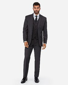Express charcoal performance stretch wool-blend su
