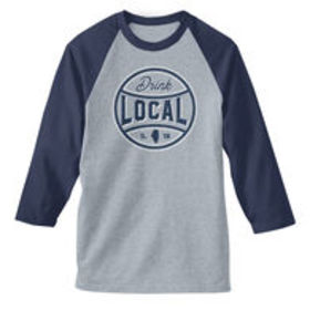 Men's Drink Local IL Baseball Tee