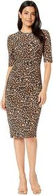 Vince Camuto Printed ITY Bodycon Dress with Side S