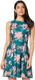 Vince Camuto Printed Scuba Fit and Flare Dress
