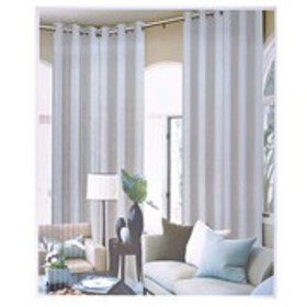 Pandra 2-Pack Faux Linen Grommet Top Extra Long Wi