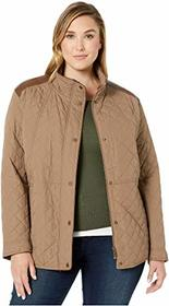 LAUREN Ralph Lauren Plus Size Short Quilt Jacket