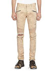 Balmain Tapered Camouflage Jeans BEIGE CAMO