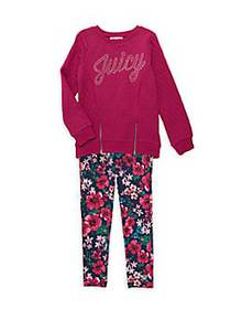 Juicy Couture Little Girl's 2-Piece Cotton Top & C