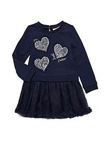 Juicy Couture Little Girl's Embellished Cotton-Ble