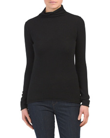 NICOLE MILLER Cashmere Funnel Roll Neck Sweater