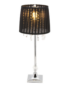 MASTERCRAFT LAMPS 26in Metal Glass Table Lamp