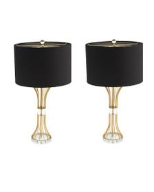 J HUNT HOME Set Of 2 28.5in Hourglass Lamps