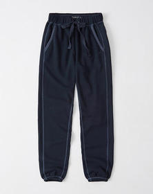 Soft A&F Banded Joggers, NAVY BLUE