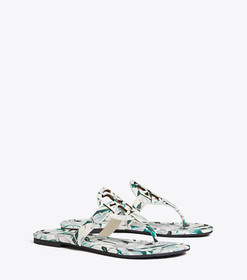 Tory Burch MILLER SANDAL, PRINTED TUMBLED LEATHER