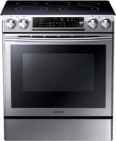 Samsung - 5.8 Cu. Ft. Self-Cleaning Slide-In Elect