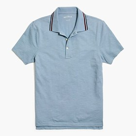 J. Crew Factory Tipped short-sleeve polo shirt in