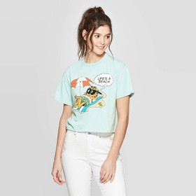 Women's Garfield Short Sleeve Cropped Graphic T-Sh