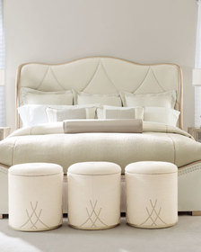 caracole Adela Upholstered California King Bed