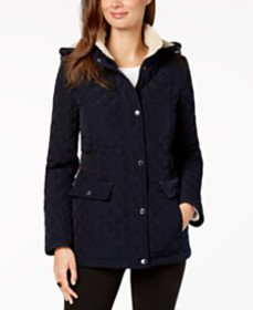 Laundry by Shelli Segal Fleece-Lined Hooded Quilte