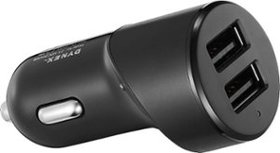 New!Dynex™ - 2-Port USB Vehicle Charger - Black