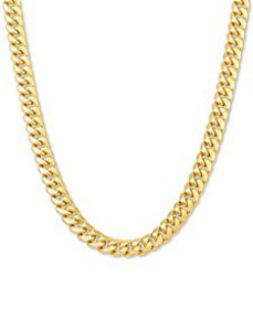 "Italian Gold Men's Miami Cuban Link 22"" Chain Neck"