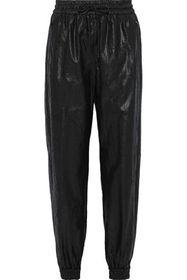 MSGM Crinkled coated-shell track pants