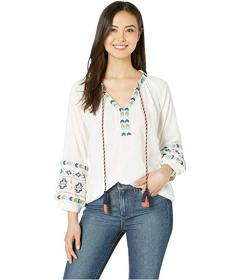 Wrangler Long Sleeve Peasant Top