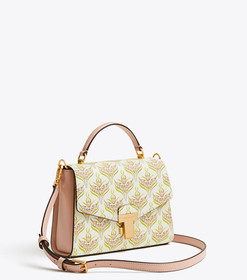 Tory Burch JULIETTE PRINTED SMALL TOP-HANDLE SATCH