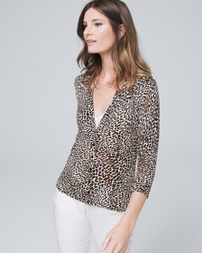 Leopard Snap-Front Cardigan