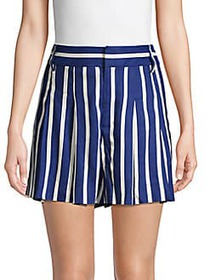 Alice + Olivia Scarlet Striped Shorts OASIS STRIPE