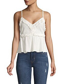 The Fifth Label Crinkled Ruffle Camisole WHITE