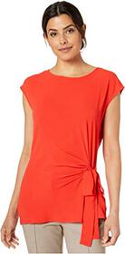 Vince Camuto Short Sleeve Side Tie Soft Texture Mi