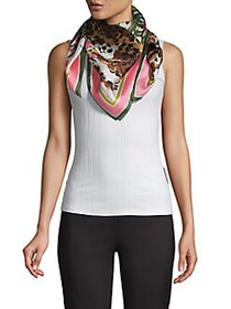 Vince Camuto Printed Silk Scarf CORAL