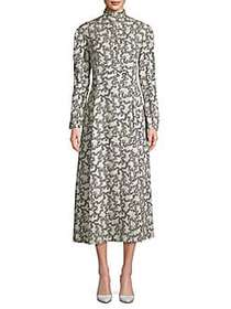 Valentino Printed Midi Dress AVORIO