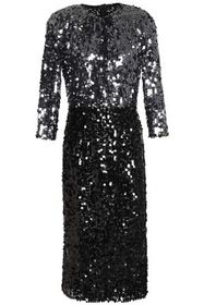 DOLCE & GABBANA Two-tone sequined tulle dress