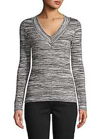 525 America Ribbed Long-Sleeve Top BLACK MULTI