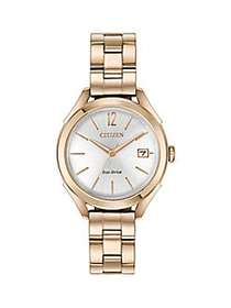 Citizen Drive LTR Rose Goldtone Stainless Steel Br