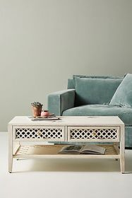 Anthropologie Jali-Carved Coffee Table