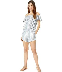 Splendid Line Of Sight Off the Shoulder Romper Cov