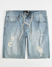 RSQ London Skinny Mens Ripped Denim Shorts_