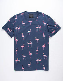 BLUE CROWN Flamingo Mens T-Shirt_