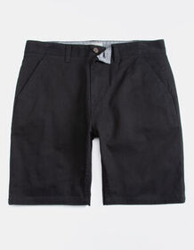 CHARLES AND A HALF Lincoln Stretch Black Mens Shor