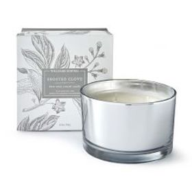 Williams Sonoma Frosted Clove Triple-Wick Candle