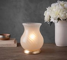 Pottery Barn Piper Swirl Glass Ambient Lamp