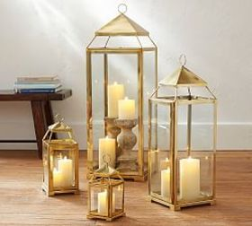 Pottery Barn Malta Lantern - Brass Finish