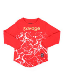 Phat Farm long sleeve cut & sew printed shirt (2t-