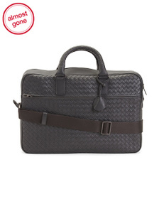 BOTTEGA VENETA Made In Italy Leather Briefcase