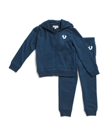 TRUE RELIGION Little Boys Buddha Hoodie And Jogger